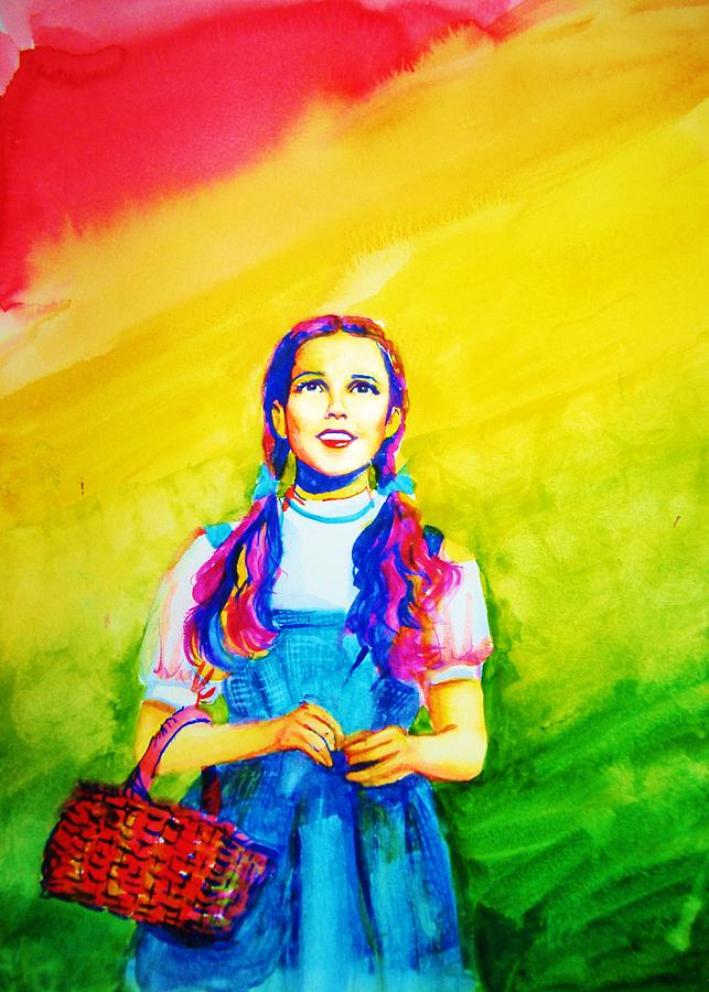 Girl Painting - In The Rainbow by Laura Rispoli