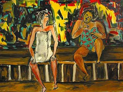 In The Sauna Painting by Padma Prasad