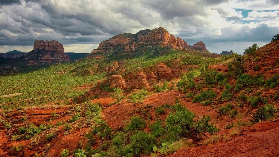 Nature Photograph - In the Shadow of Cathedral Rock by Zayne Diamond Photographic