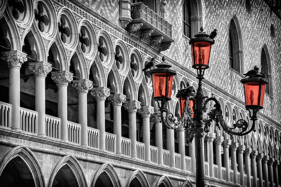 Venice Photograph - In The Shadow Of The Doges Palace Venice by Carol Japp
