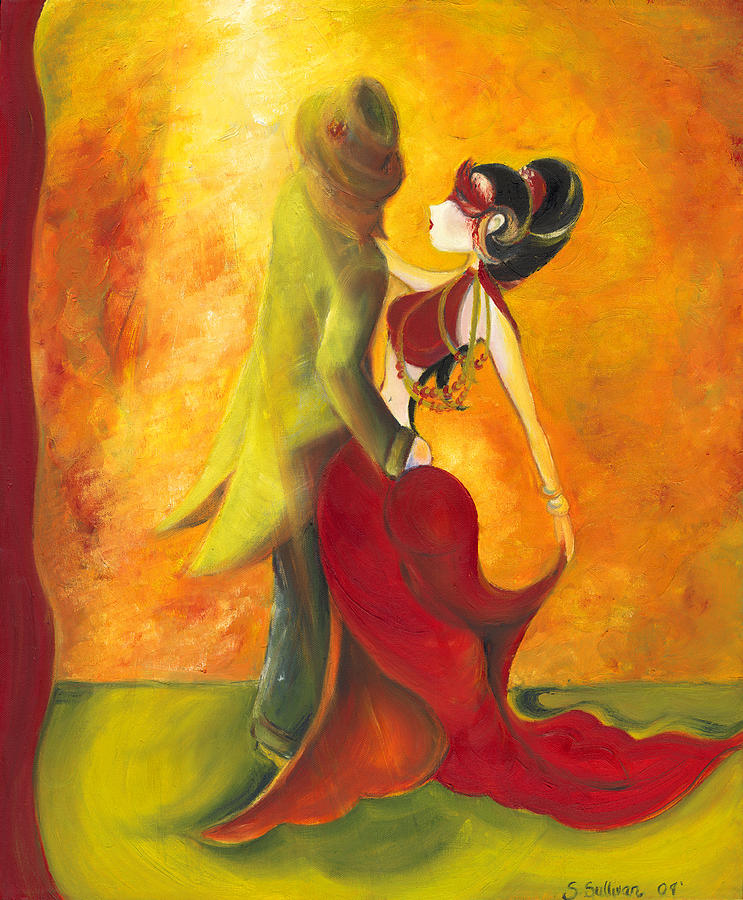 Couple Painting - In The Spotlight  by Stephanie  Broker