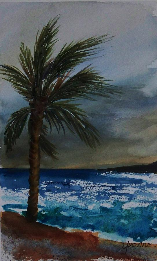 Seascape Painting - In The Storm by Yvonne Kinney