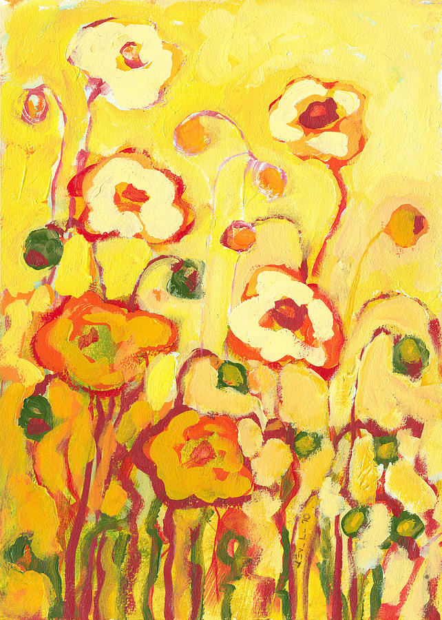 Floral Painting - In The Summer Sun by Jennifer Lommers