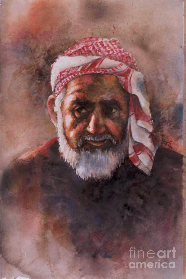 Portrait Painting - In the Sunshine 2 by Tina Siddiqui