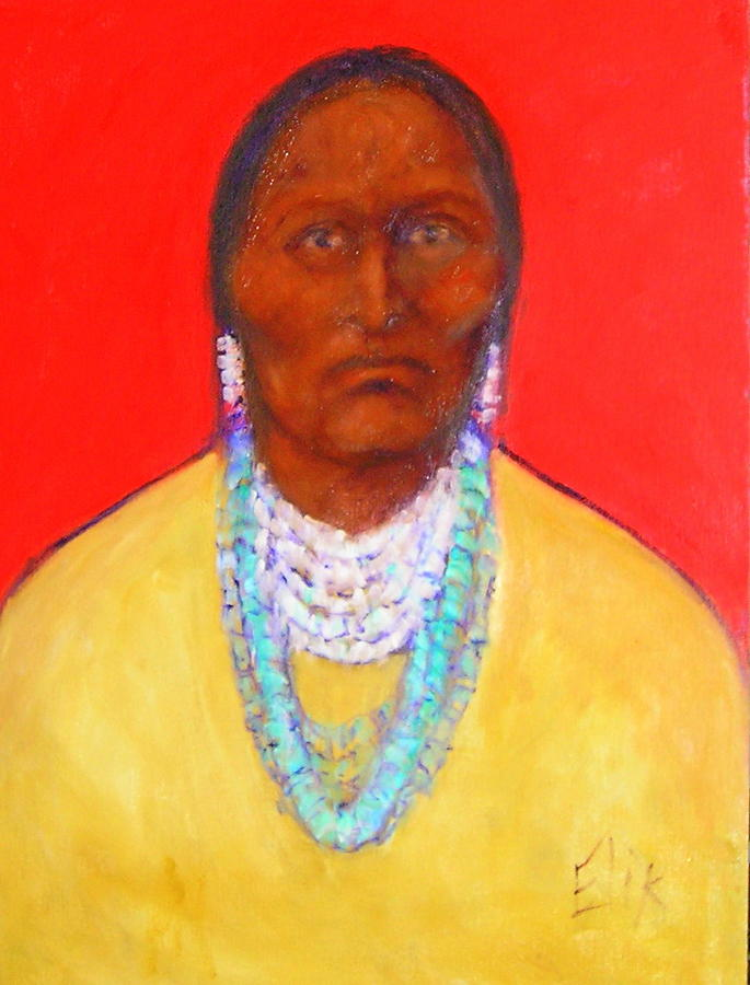 Native American Theme Artwork Painting - In The Time Of Crazy Horse by Johanna Elik