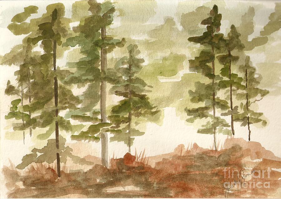 Trees Painting - In the Trees by Jackie Mueller-Jones