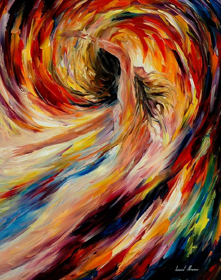 Nude Painting - In the Vortex of Passion by Leonid Afremov