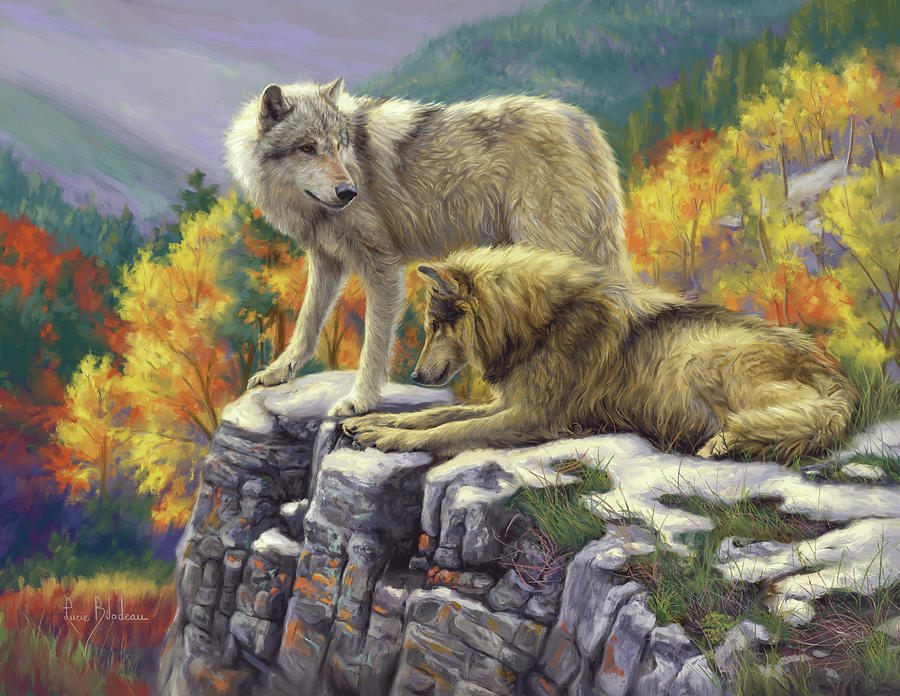 Wolf Painting - In the Wild by Lucie Bilodeau