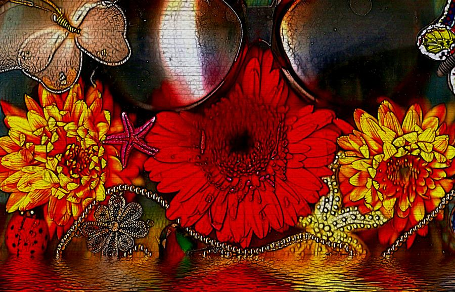 Water Mixed Media - In The Wood Of Fantasy By The Water by Pepita Selles