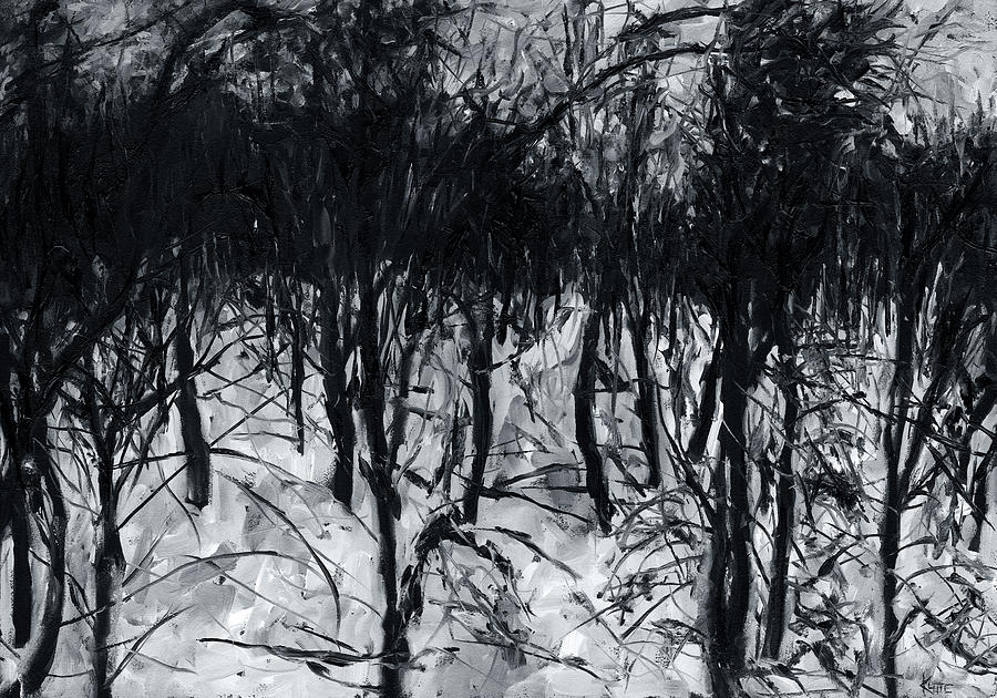 Woods Painting - In The Woods 7 by Christian Klute