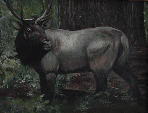 Caribou Painting - In The Woods by Day Seriani