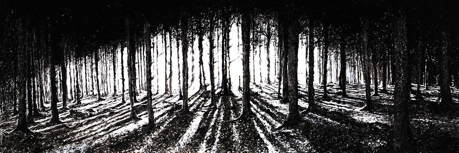 Woods Painting - In the Woods 2 by Christian Klute