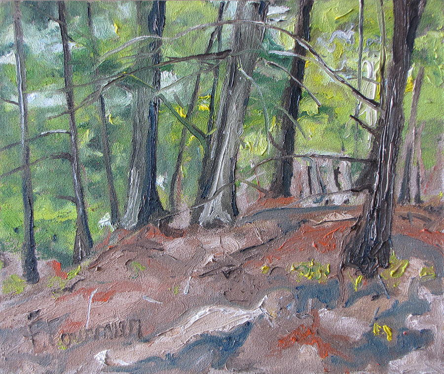 Landscape Painting - In The Woods No2 by Francois Fournier