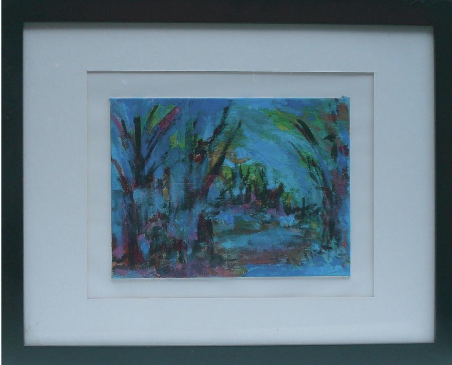 Landscape Painting - In The Woods by Vivien Ferrari