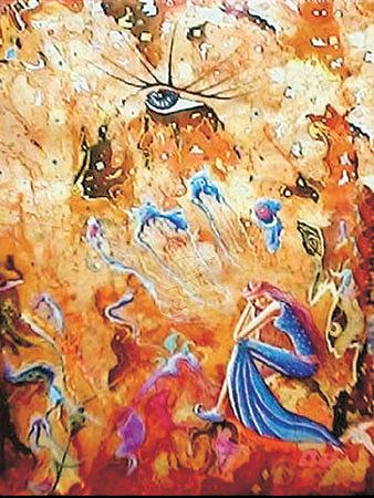 In The Yellow Dream Painting by Alireza Vataniman