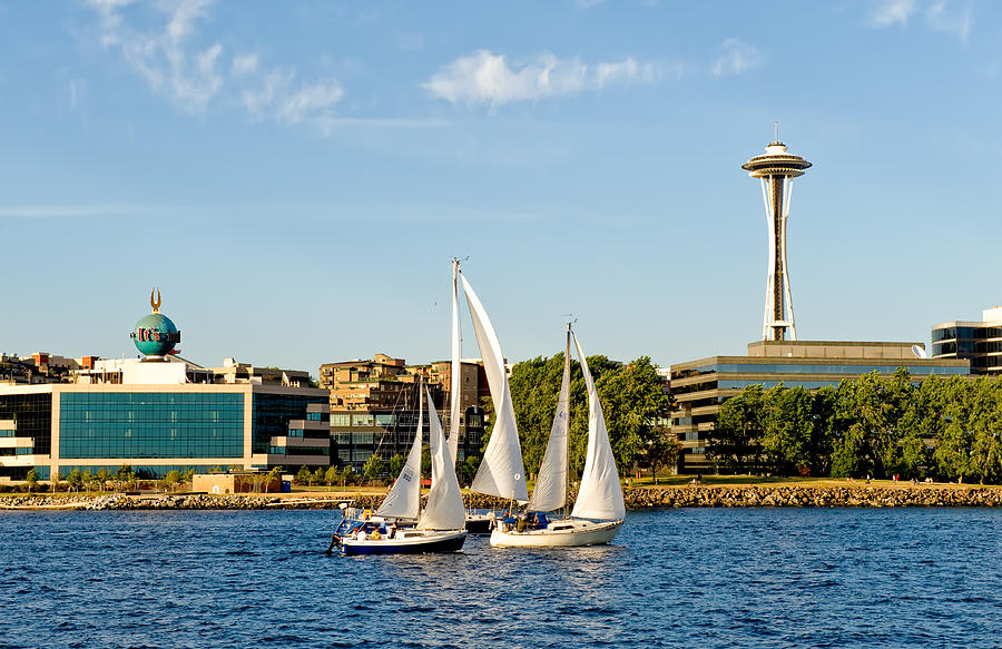 Seattle Photograph - In Threes by Tom Dowd