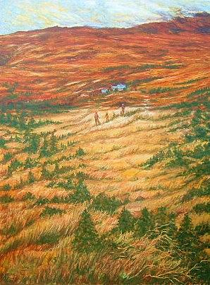 Landscape Painting - In Time by Xavier Maumus
