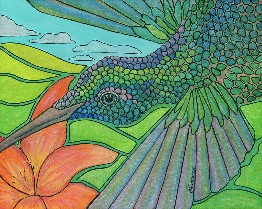 In To The Hummingbirds Eye Painting