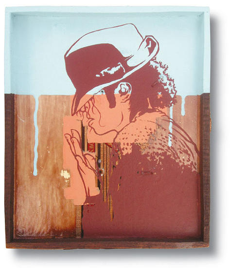 Portrait Painting - In Too Deep 09 Michael Jackson by Ruben  Ubiera