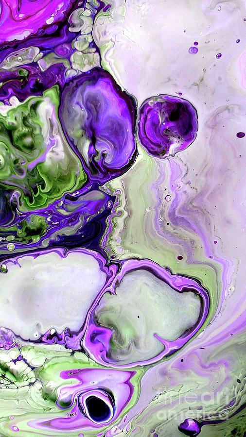 In Too Deep Purple Violet Fluid Art Abstract