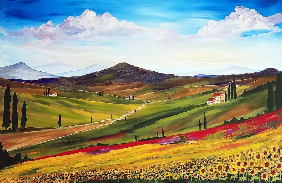 In Tuscany Painting By Deepa Sahoo