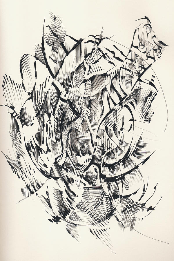 Pen And Ink Drawing - In Vain by Keith A Link