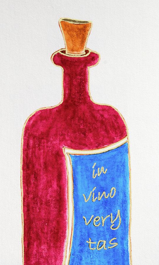 In Vino Very Tas Drawing by Frank Tschakert