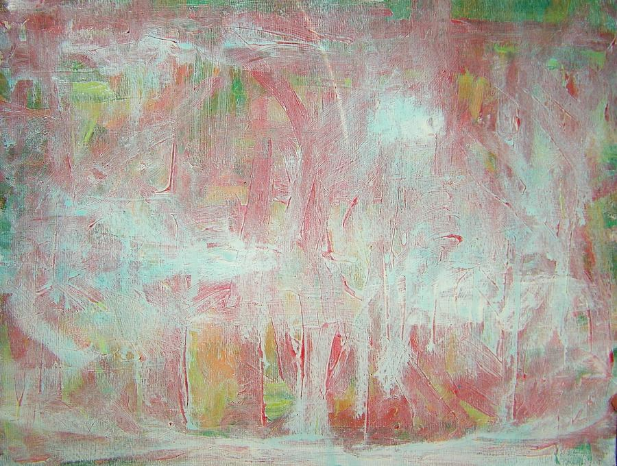Abstract Painting - In Winter--the Nowhere Forest by Judith Redman