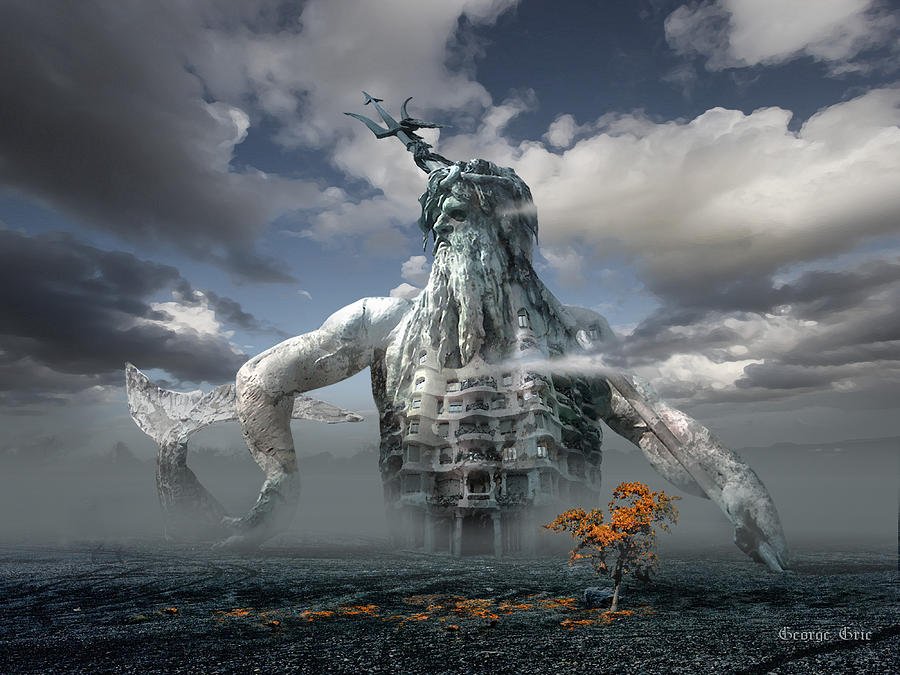 Metamorphosis Digital Art - Inadvertent Metamorphosis Or King Of My Castle by George Grie