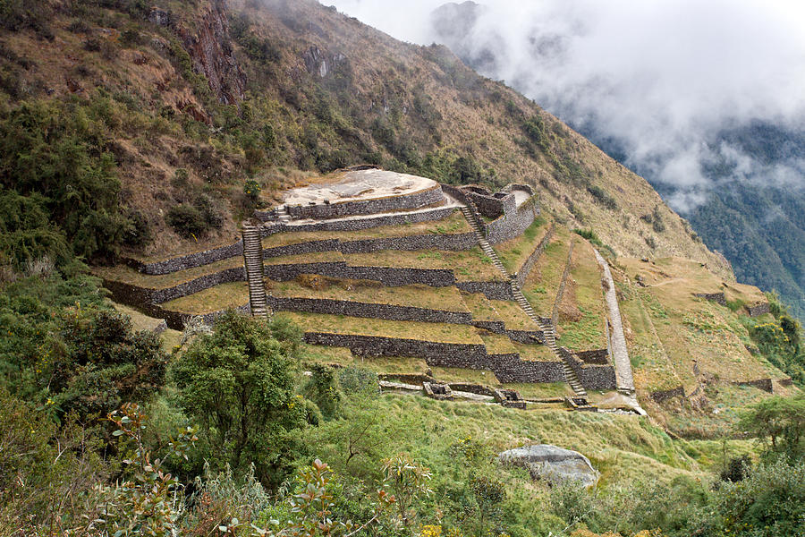 Inca Ruins And Terraces Photograph