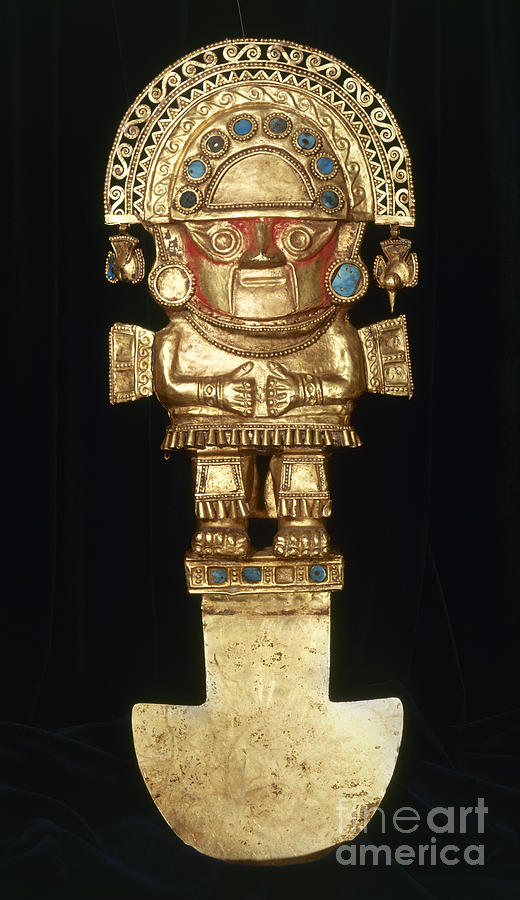 Ancient Photograph - Incan Gold Ornament by Granger
