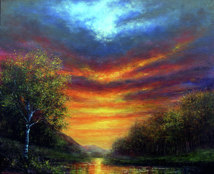 Sunset Painting - Incandescence by Ann Marie Bone