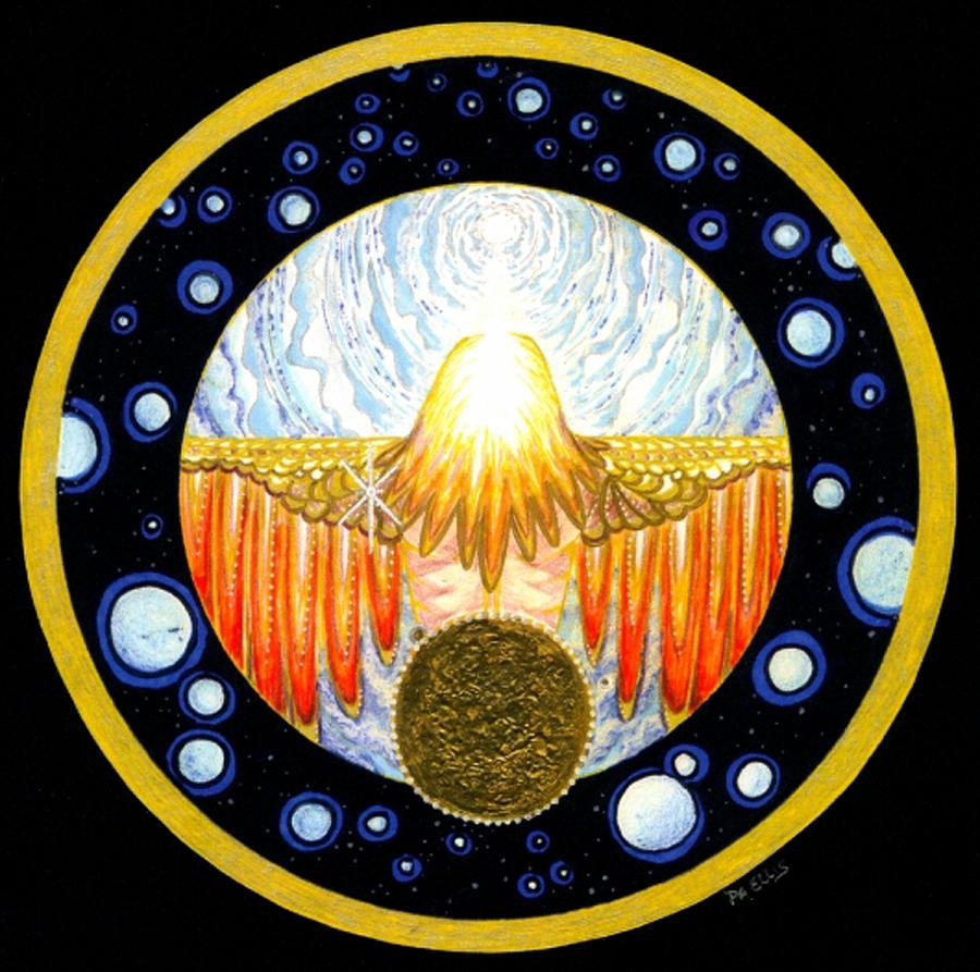 INCARNATION   Mandala Series Painting by Pam Ellis