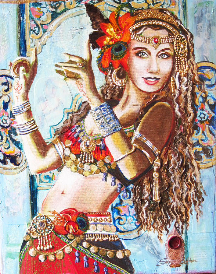 Belly Dance Painting - Incense by Stephanie Bolton