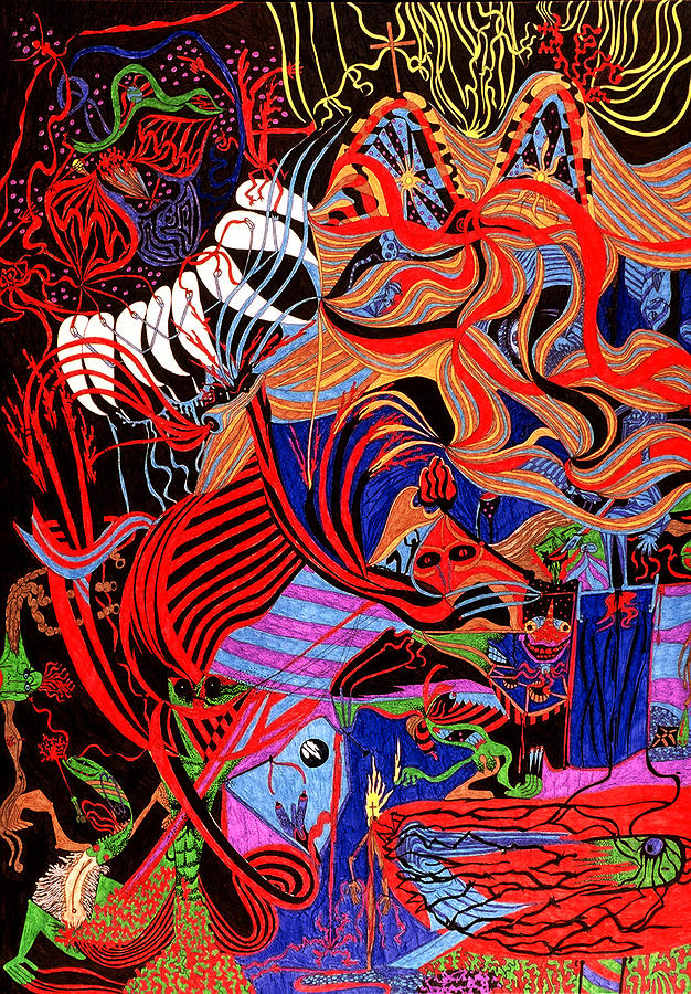 Abstract Print - Incense by William Watson