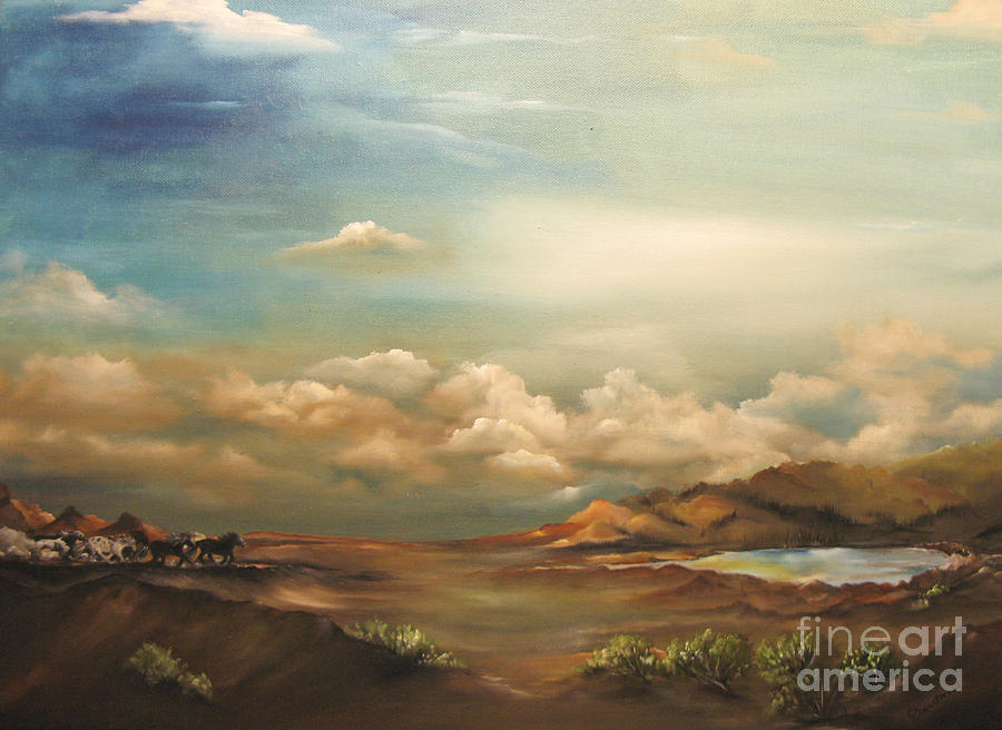 Mountains Painting - Incentive by Carol Sweetwood