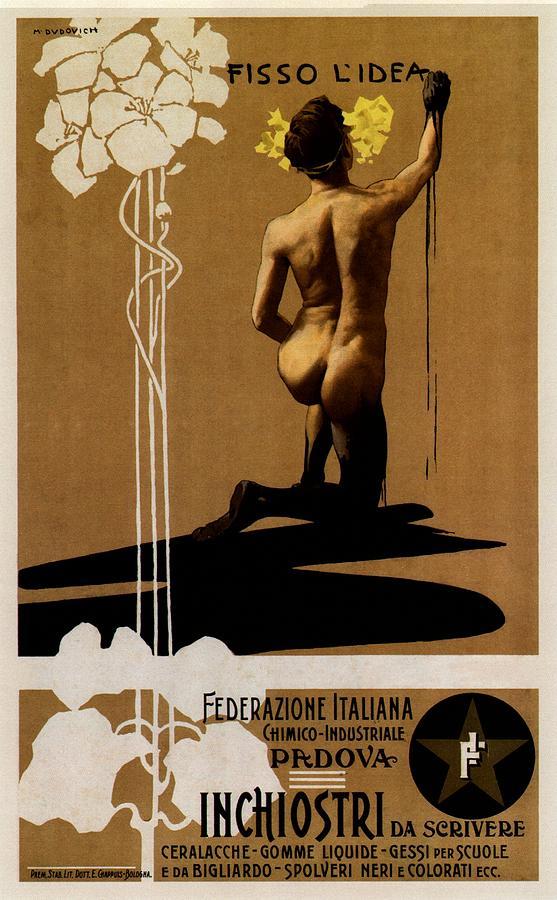 Inchiostri Da Scrivere - Padova, Italy - Vintage Advertising Poster Mixed Media