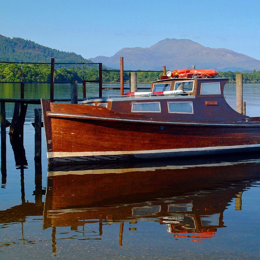Inchmurrin Ferry and Ben Lomond by John McKinlay