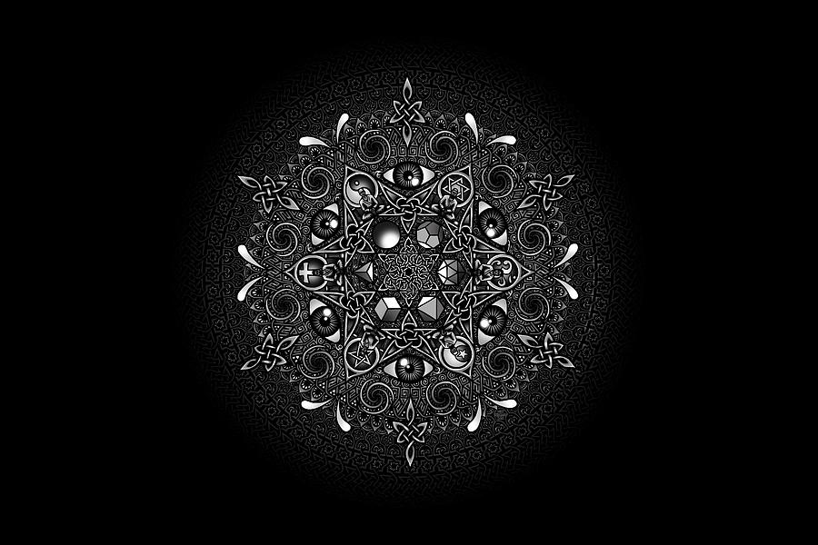 Mandala Drawing - Inclusion by Matthew Ridgway