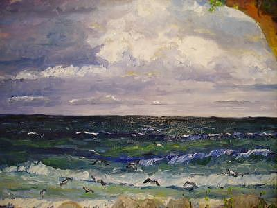 Florida West Coast Painting - Incoming Storm by  Carlo Gislimberti