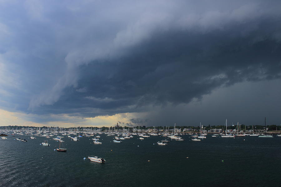 Incoming Thunderstorm At Marblehead Harbor Photograph
