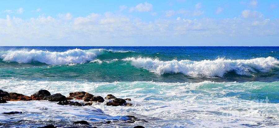 Incoming Tide At Glass Beach Kauai Hawaii by Mary Deal