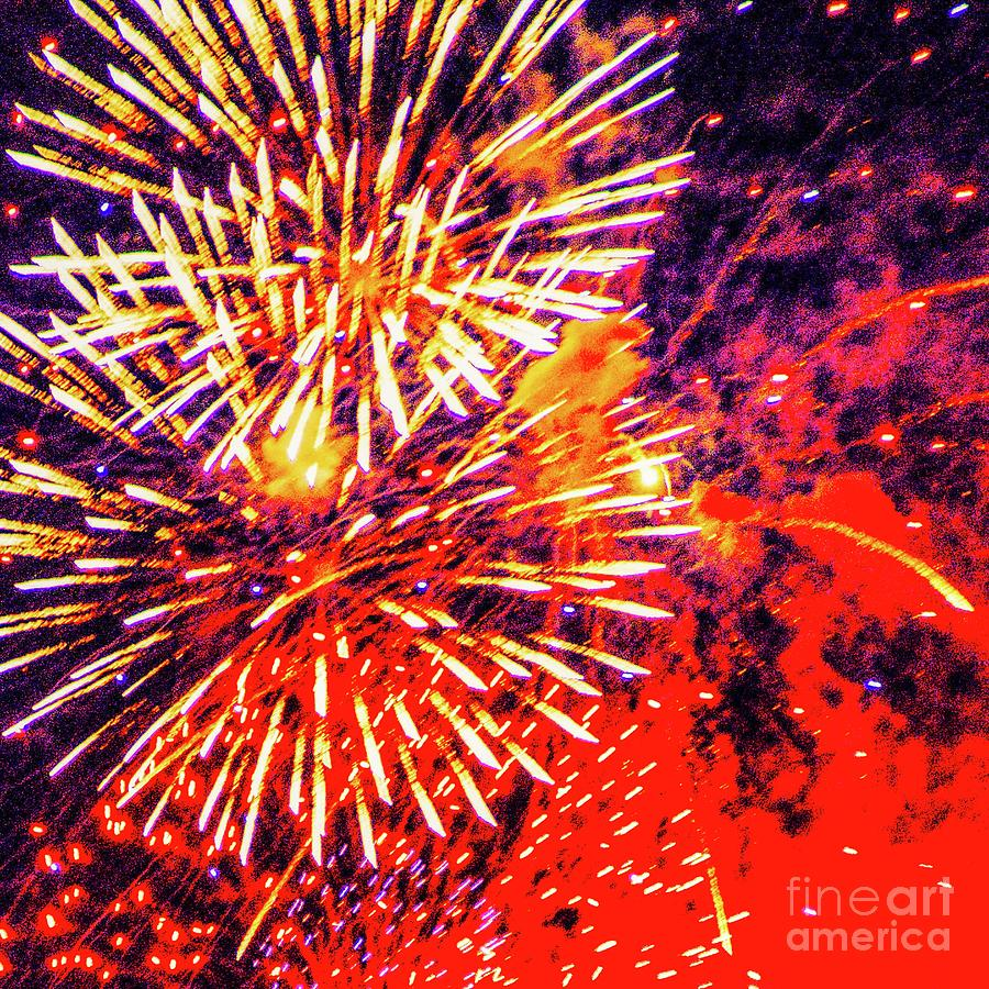Fireworks Photograph - Its 2019 Seize The Year  by D Davila