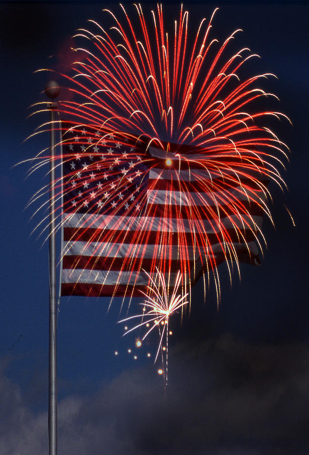 Flag Photograph - Independence Day by Skip Willits