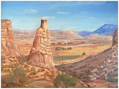 Independence Rock-colorado National Monument Painting by Merrilyn Turman