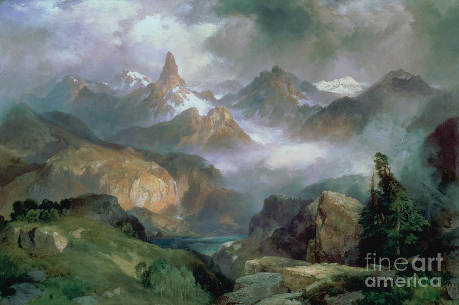 Yellowstone National Park Painting - Index Peak by Thomas Moran