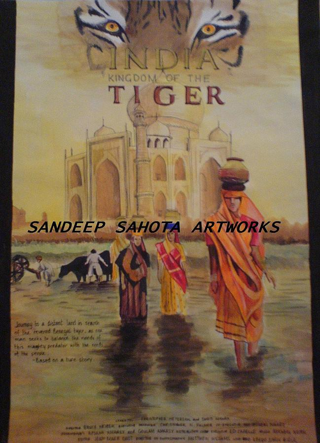 Tom Cruise Painting - India Kingdom Of The Tiger by Sandeep Kumar Sahota