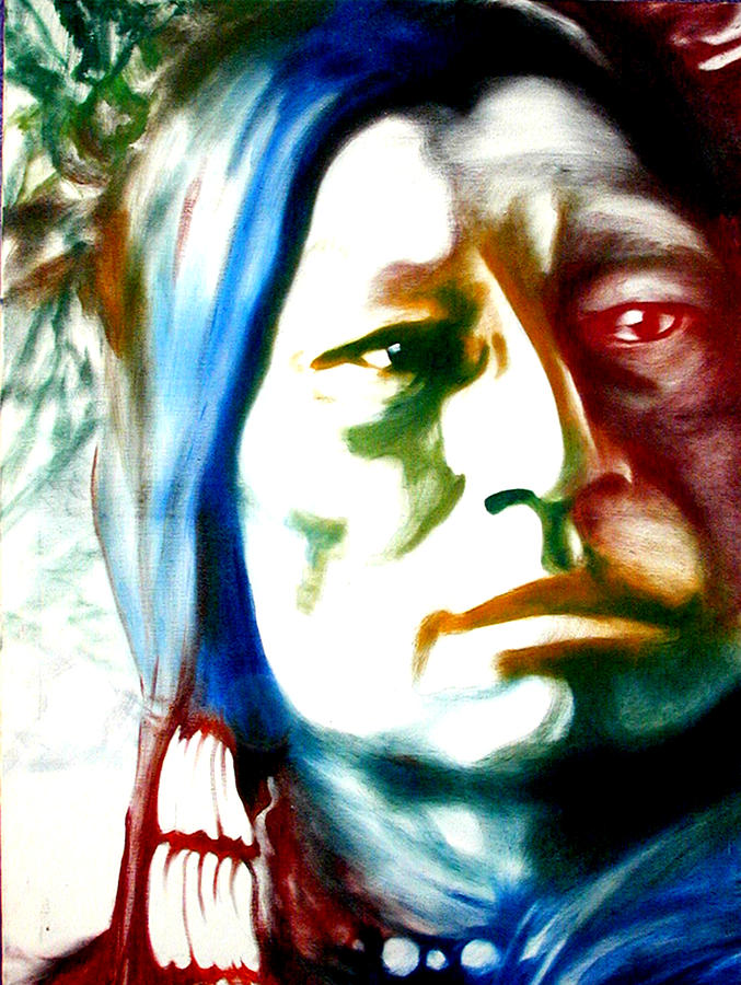 Portrait Painting - Indian 1 by Scott Robinson
