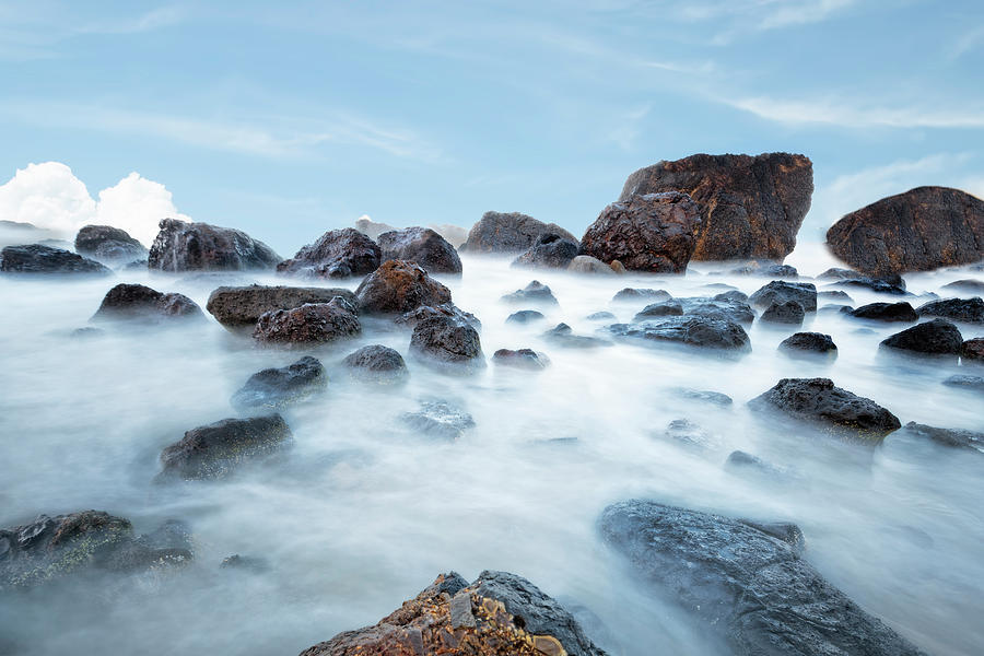 Oregon Photograph - Indian Beach At Ecola State Park, Oregon  by Kay Brewer