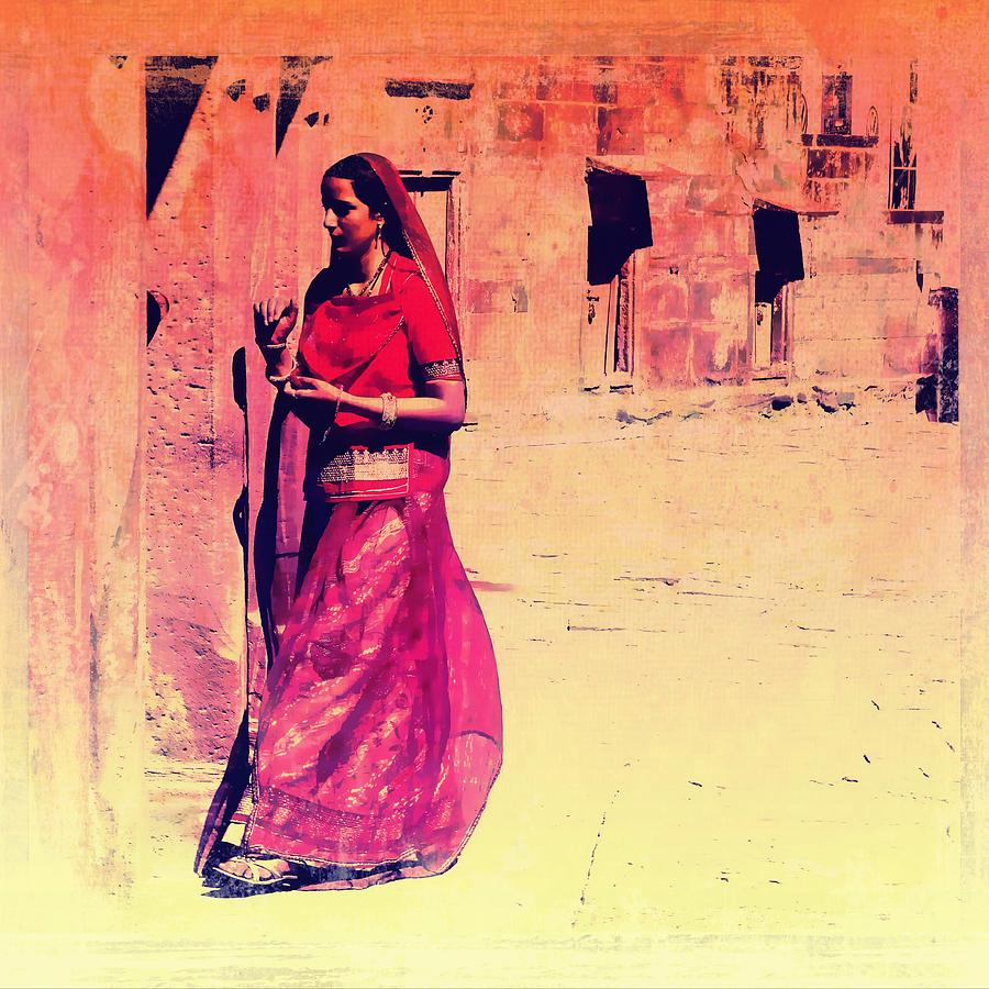 Indian Beauty Rajasthan Exotic Travel Woman Pink Red Orange 1e ...